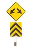Señalización del tráfico de la flecha Fotografía de archivo libre de regalías