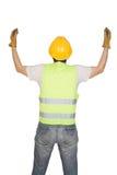 Señalización del trabajador de construcción Imagen de archivo libre de regalías