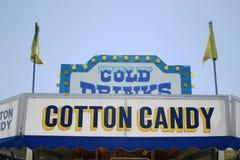 Señalización del vendedor del carnaval Imagen de archivo