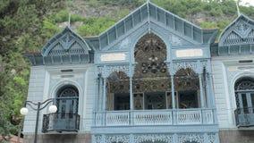 Señorío de Mirza Riza khan - Borjomi, Georgia almacen de video