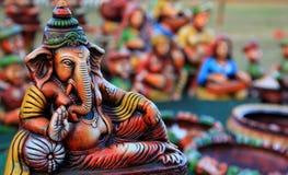Señor de reclinación Ganesha Fotografía de archivo libre de regalías