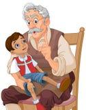 Señor Geppetto y Pinocchio stock de ilustración