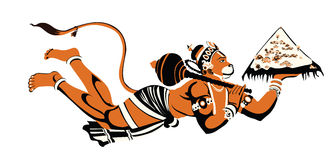 Señor hanuman libre illustration