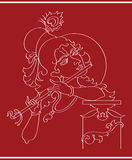 Señor Krishna ilustración del vector