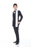 Señor Pageant Contest en traje de la bola de la tarde con Diamond Crown, imágenes de archivo libres de regalías