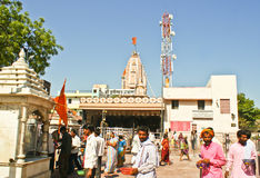 Señor Shani Temple en Shingnapur, la India. Fotografía de archivo