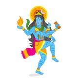 Señor Shiva ilustración del vector