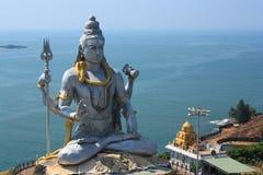 Señor Shiva Statue en Murudeshwar, la India. Imagen de archivo