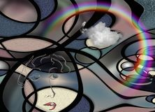 Señora Abstract Libre Illustration