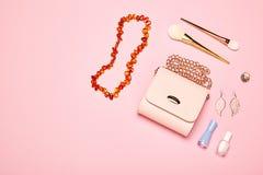 Señora Accessories Set de la moda fotos de archivo