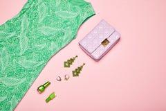 Señora Accessories Set de la moda imagen de archivo libre de regalías
