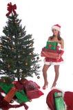 Señora atractiva Claus Imágenes de archivo libres de regalías