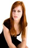Señora atractiva del Redhead foto de archivo libre de regalías