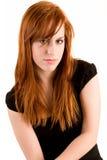 Señora atractiva del Redhead Foto de archivo