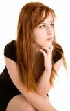 Señora atractiva del Redhead imágenes de archivo libres de regalías