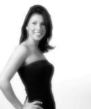 Señora atractiva en blanco y negro Imagen de archivo libre de regalías