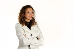 Señora atractiva joven que presenta en el estudio Imágenes de archivo libres de regalías