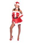 Señora atractiva Papá Noel fotografía de archivo