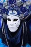 Señora azul imagenes de archivo
