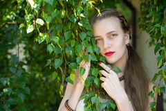 Señora bonita de la muchacha hermosa con maquillaje desnudo profesional Fotos de archivo libres de regalías