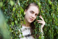 Señora bonita de la muchacha hermosa con maquillaje desnudo profesional Fotografía de archivo
