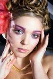 Señora bonita en fancy-dress Foto de archivo libre de regalías