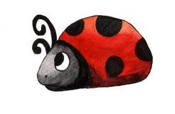 Señora Bug de la acuarela ilustración del vector