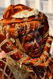 Señora In Carnival Dress 3 Imágenes de archivo libres de regalías