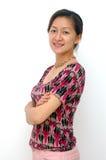 Señora china feliz Fotografía de archivo libre de regalías