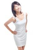 Señora china joven alegre Imágenes de archivo libres de regalías