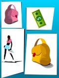 Señora con cosas de las compras Fotografía de archivo libre de regalías