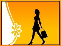 Señora con el bolso de compras Foto de archivo