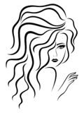 Señora con la cara sensual libre illustration
