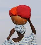 Señora con los calabas Foto de archivo