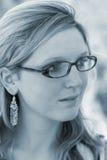 Señora con los vidrios Fotografía de archivo libre de regalías