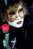 Señora con una rosa Imagen de archivo
