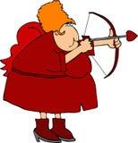 Señora Cupid ilustración del vector
