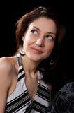 Señora Dark-haired fotografía de archivo