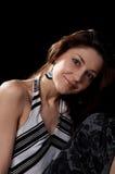 Señora Dark-haired Fotos de archivo libres de regalías