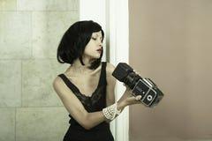 Señora de fotografía joven Foto de archivo