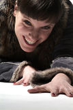 Señora de Freundliche | mujer cómoda Imagen de archivo libre de regalías