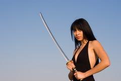 Señora de la espada Imagen de archivo libre de regalías