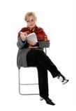 Señora de la lectura Fotos de archivo