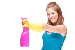 Señora de la limpieza Imagen de archivo