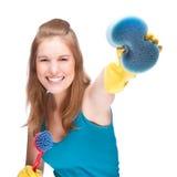 Señora de la limpieza Fotos de archivo libres de regalías