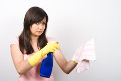 Señora de la limpieza Fotografía de archivo