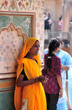 Señora de la limpieza india Foto de archivo libre de regalías
