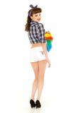 Señora de la limpieza joven foto de archivo libre de regalías