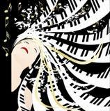 Señora de la música stock de ilustración