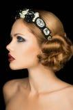 Señora de la moda en la corona Fotografía de archivo